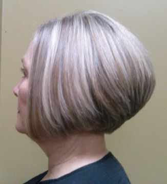 Modified Wedge hairstyle